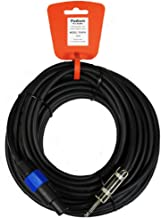 New 50' Pro Audio Speaker Cable 12 Gauge Male Speakon Jack to Male 1/4 Jack TSSP50
