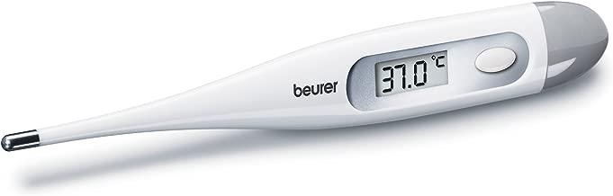 Beurer FT09 Termometro Digital y Corporal, Resistente al Agua, sin Mercurio, sin Cristal, Color Blanco