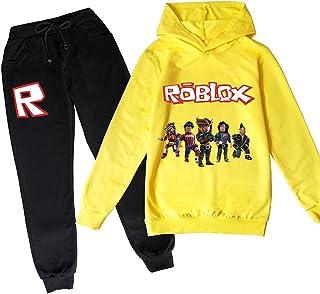 ZKDT Roblox - Sudadera con capucha clásica y cómoda para niños y niñas de 3 a 14 (estilo 1,150)