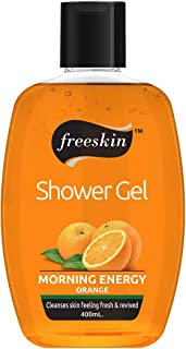 Freeskin Orange Body Wash Shower Gel 400ml, Infused with Vitamin C, for Removing Impurities from the Skin and Brighten Ski...