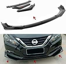 MotorFansClub 3pcs Front Bumper Lip for Nissan Altima 2016 2017 2018 Splitter Trim Protection Spoiler, Black