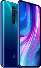 Điện thoại di động Android – Xiaomi Redmi Note 8 Pro 128GB, 6GB RAM 6.53″ LTE GSM 64MP Factory Unlocked Smartphone – Global Model (Ocean Blue)