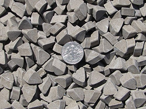 Brown vibratory tumbling media Triangle aggressive 20 lbs rock metal Deburring
