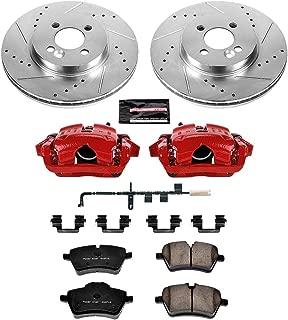 Power Stop Z23 Evolution KC6068 Front Kit Rotors, Carbon-Fiber Ceramic Pads, Brake Calipers