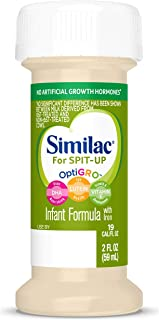 Similac for Spit-Up, 48 Bottles, Easy-to-Digest Infant Formula, Reduces Frequency of Spit-Up, Supports Brain & Eye Development, Ready to Feed, 2-oz Bottles