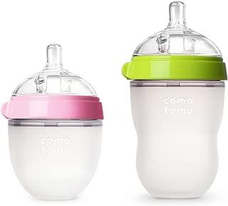 Comotomo Natural Feel Bundle - 2 Items (Green/Pink, 5oz + 8oz)