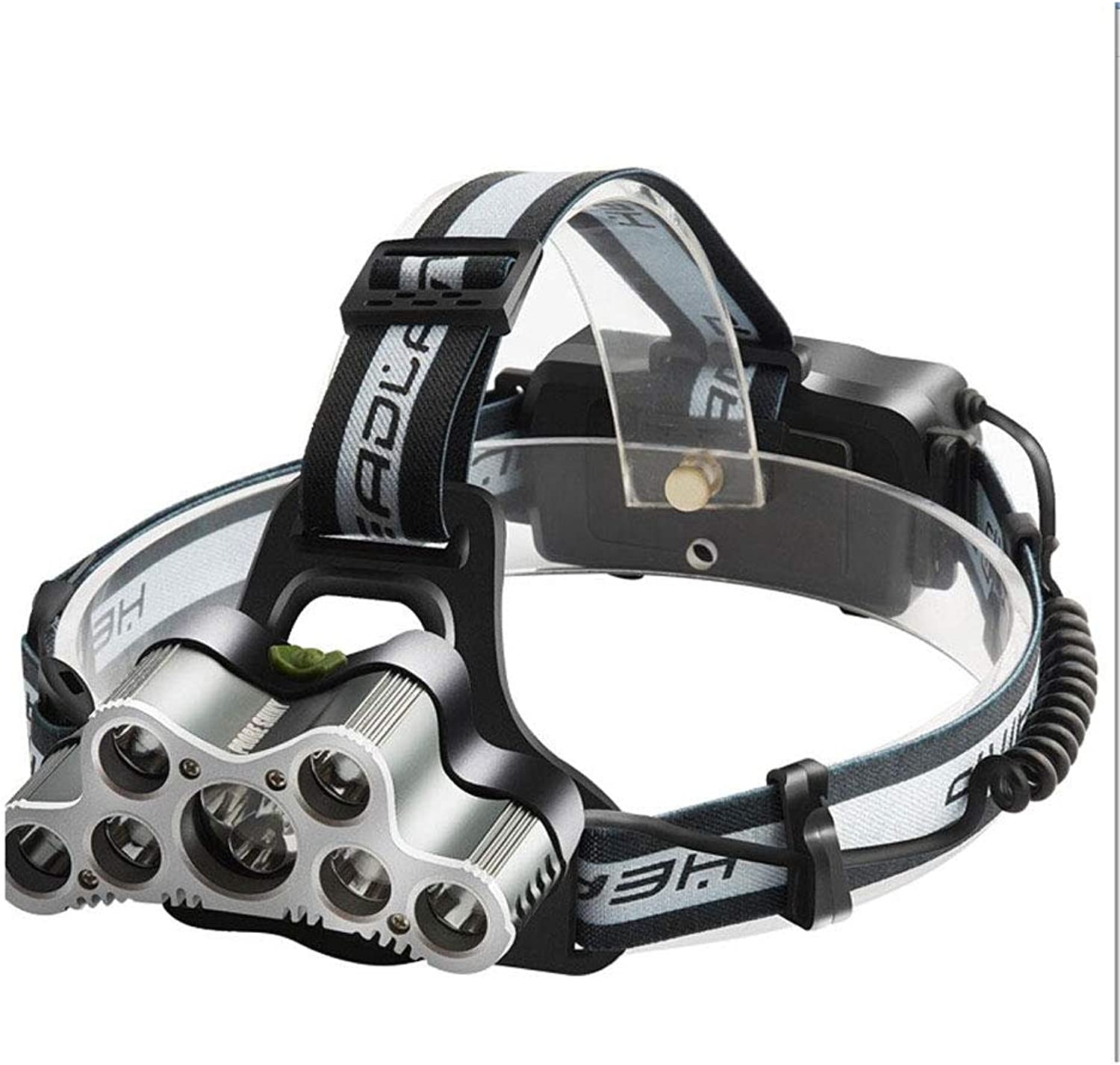 Detecting High-Power Glare Long-Range Charging Headlamp Super Bright T6 Wick Head Wearing Miner's Lamp (color   White)
