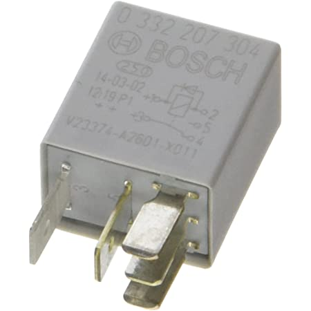 Bosch 0332207304 Micro Relais 12v 20a Ip5k4 Betriebstemperatur Von 40 Bis 85 Wechselrelais 5 Pin Relais Mit Diode Auto