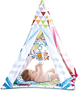 FenglinTech Baby Play Mat and Infant Music Activity Gym with Tent