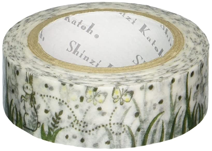 SEAL-DO Shinzi Katoh Washi Masking Tape, 15mm x 10m, Rabbit & Butterfly (ks-mt-10052)