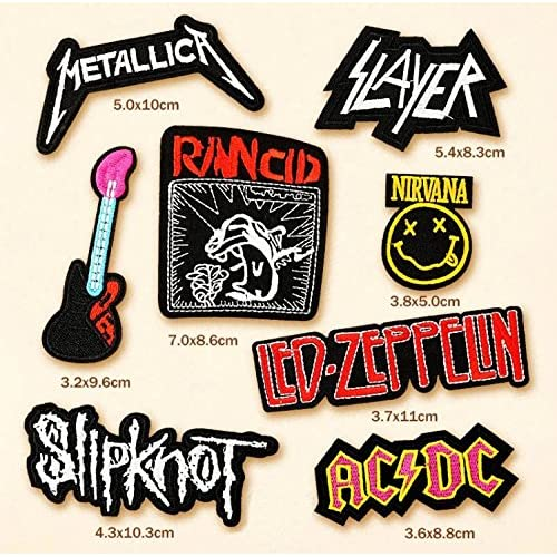 Rock Band Iron on Patches by Asian 108 Markets Motley Crue Patch and Led Zeppelin Patch Set/_ROCK012 Def Leppard Patch 3 Pcs Heavy Metal Patches Applique Embroidered Patches