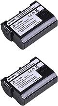 Batmax 2-Pack High Capacity EN-EL15 Rechargeable Li-ion Batteries(1900mAh) for Nikon EN-EL15 Battery, Nikon D7000, V1, D600, D800, D800E, D7100, D610, D810, D810A, D750, D7200, D500 Cameras