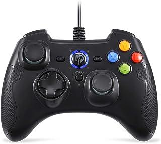 EasySMX 有線PS3/PCゲームパッドジョイスティック Windows/Android/PS3/TV Boxに対応可能 連射・振動機能搭載 パソコンゲーミングコントローラー(ブラック)