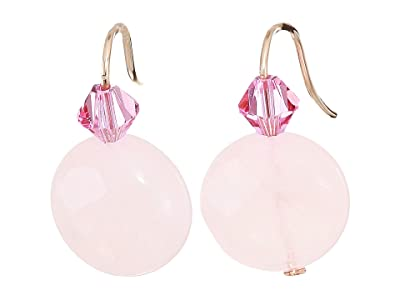 Alex and Ani Quartz Gemstone Earrings (Rose/14KT Rose Gold Plated) Earring