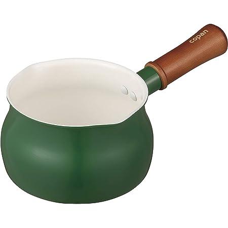 シービージャパン ミルクパン 13cm グリーン IH対応 片手鍋 セラミック 塗装加工 copan