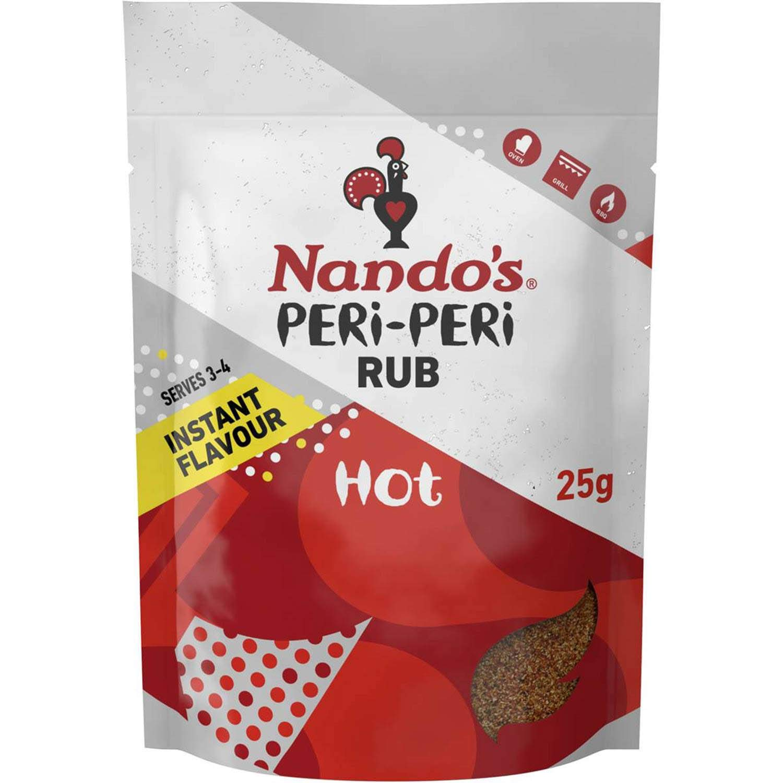 Indianapolis Mall Nando's Hot Peri Rub 25g 1 year warranty Seasoning