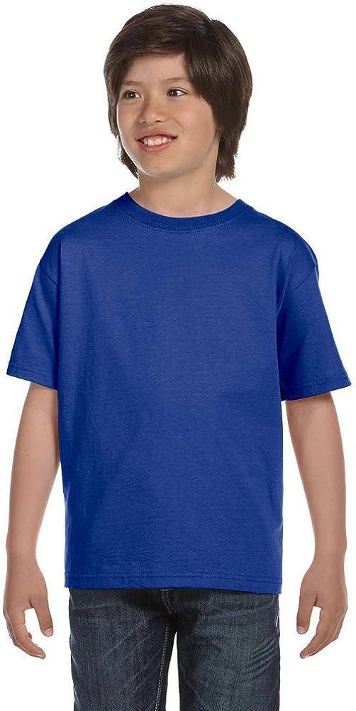 Hanes Boys' TAGLESSComfortSoft Crewneck T-Shirt_Deep Royal_L