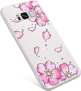 ed742e36a94 Uposao Funda Samsung Galaxy S8 Plus Carcasa Scrub Transparente Dibujos Flor  Animados Premium Ultra Hybrid Fina