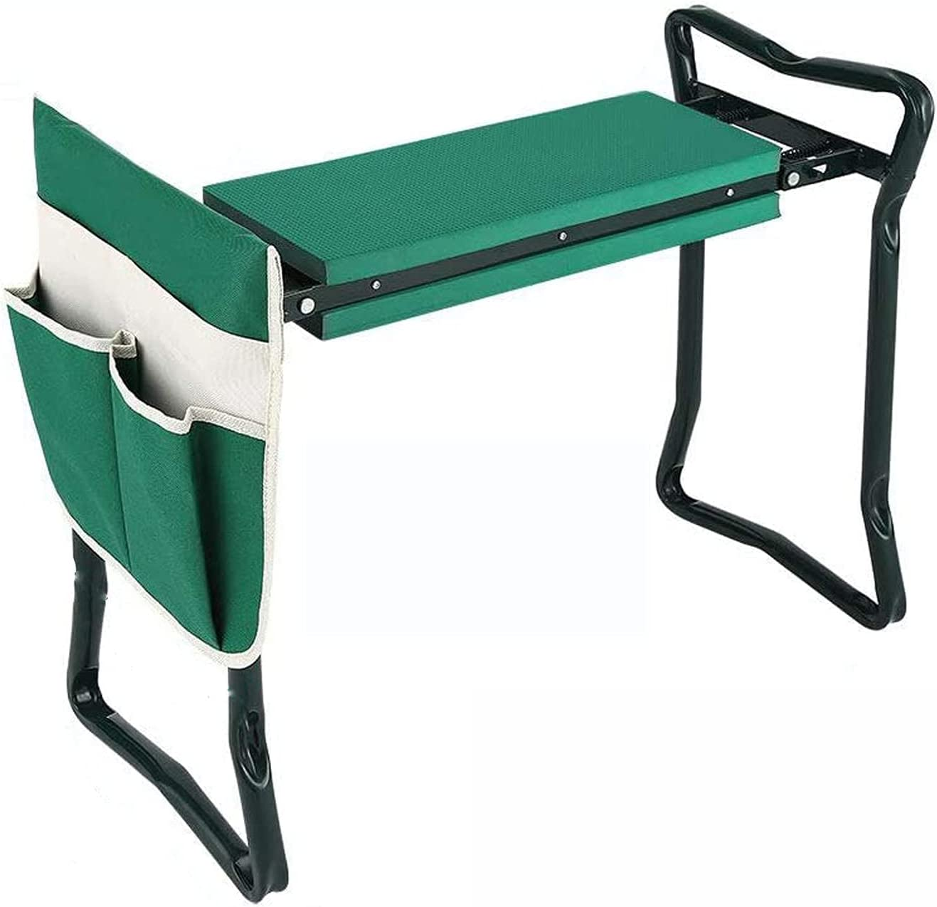 Besthls Garden Kneeler and Seat Stool Heavy Duty Garden Folding Bench with Large Tool Pocket and Soft EVA Kneeling Pad for Gardening Lovers : Patio, Lawn & Garden