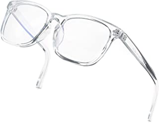 Blue Light Blocking Glasses Women Men Clear Lens Square Frame Computer Eyeglasses