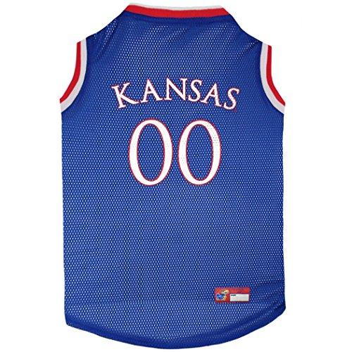 Pets First KU-4020-MD Kansas Basketball Jersey, multi, one size