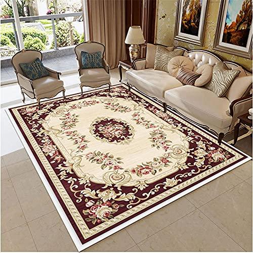 La Alfombra Alfombras Oficinas La sala de estar con la alfombra duradera continental, el beige clásico es fácil de limpiar, adaptable alfombra grande Alfombras Pequeñas Dormitorio Alfombra 160X200CM