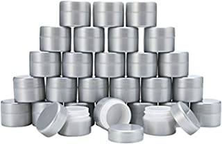 MHO Containers | Pearlized Plastic Cosmetic Jars - Double-Walled Screw-on Refillable 7 gram/0.25oz - Set of 50