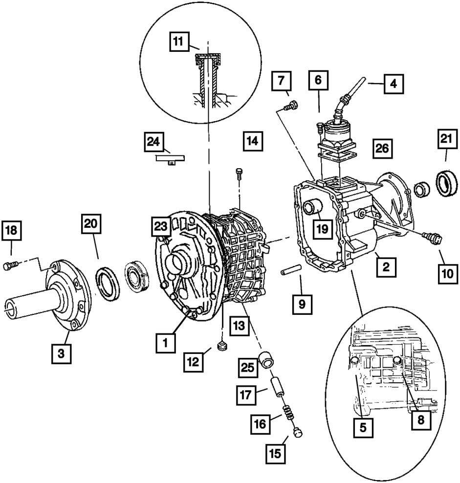 Mopar 4741296 Wholesale Manual Houston Mall Transmission Shaft Input Seal