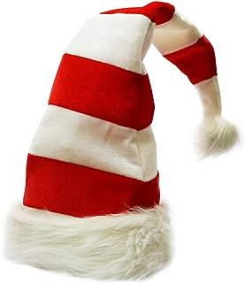 Funny Party Hats Christmas Hats - Candy Holiday Theme Hats - Santa Hats (Red and White Santa Hats)