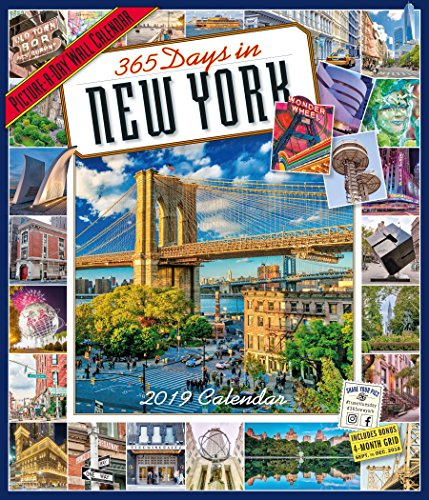 "365 Days in New York Picture-A-Day Wall Calendar 2019 [12"" x 14"" Inches]"