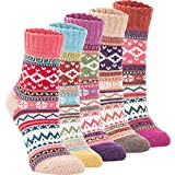 Womens Super Thick Wool Socks - Soft Warm Comfort Casual Crew Winter Socks (Pack of 3-5), Multicolor