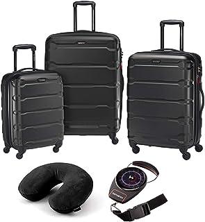 Omni Hardside Luggage Nested Spinner Set of 3 with Travel Kit 13d21dd877