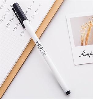 Royare of School Supplies 4Pcs/Set Personality Text Gel Pen Kit Interesting Signing Pen Student Stationery Reward (G Style)