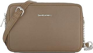 David Jones - Damen Kleine Umhängetasche Quadratisch - Schultertasche Kette Handtasche PU Leder - Crossbody Messenger Bag...