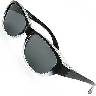HD Polarized Wrap Around Shield Sunglasses for Prescription Glasses Gift Box