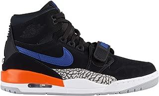 Nike Jordan Men's Legacy 312 Black/Rush Blue/Brilliant Orange Leather Basketball Shoes 12 M US
