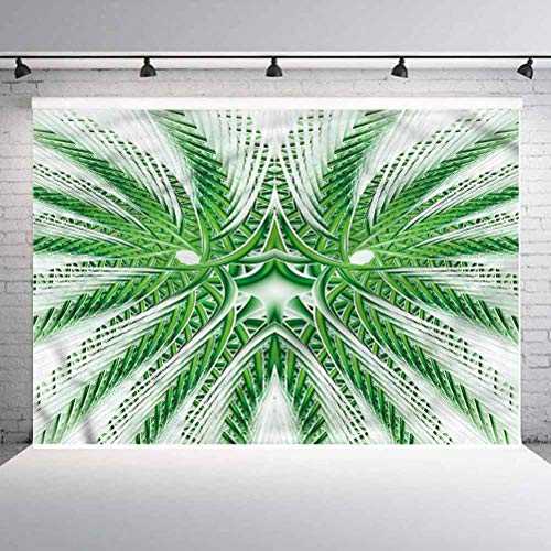 10x10FT Vinyl Backdrop Photographer,Psychedelic,Futuristic Palm Tree Background for Party Home Decor Outdoorsy Theme Shoot Props