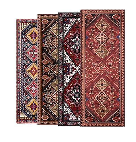 Ananda Yoga Mat - Premium Print Carpet Design - 6mm Extra Thick Lightweight Non-Slip with Carrying Strap for Yoga, Meditation, Floor & Fitness Exercises - Baktiar Red