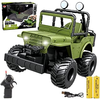 RC Trucks, 1:32 Remote Control Car RC Cars Drive Off-Road 2.4Ghz for Kids Climbing Car...