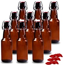 mockins Set of 617 Oz Glass Bottle Set with Swing Top Stoppers