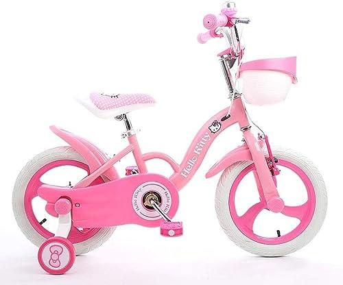 1-1 Fille Rose Bicyclette, Jante en Alliage de magnésium Frein Adulte 12 14 16 Pouces afin de Vélo Enfant 2-8 Ans