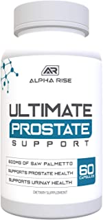 Sponsored Ad - Ultimate Prostate Support Supplement for Men - 600mg Saw Palmetto 300mg Pyguem - 16 Herbs for Enlarged Pros...