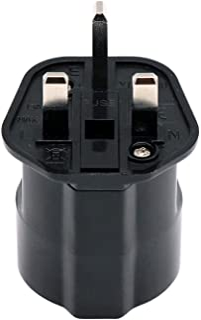 EU to UAE/KSA/UK/HK/Singapore Adaptor Plug with 13A Fuse and Safety Shutter, 2-Pin DE/FR/IT/ES European Plug Convert to UA...