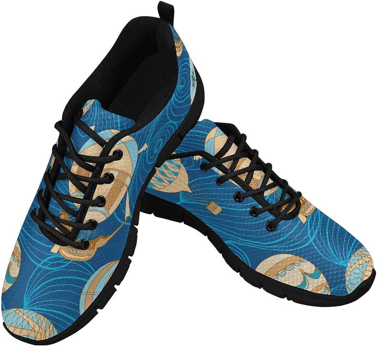 InterestPrint Aerostats Pattern Women's Lightweight Athletic Casual Gym Sneakers