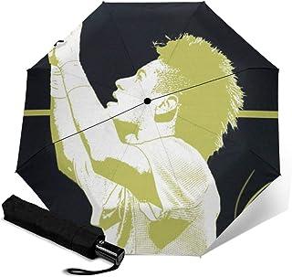 Naru3 折叠伞 一键自动开合【最新版&双层构造】耐强风 超防水 210t高强度玻璃纤维 防紫外线 隔热 结实 带伞套