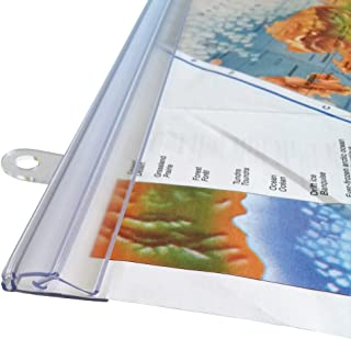 goKelvin 48 Inch Hanging Rails for Posters, Signs, and Maps (Clear)