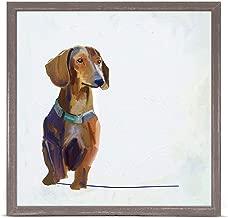 GreenBox Art + Culture Best Friend Dachshund by Cathy Walters 6 x 6 Mini Framed Canvas