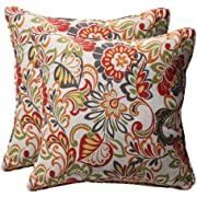 "Pillow Perfect Decorative Modern Floral Square Toss Pillows, 18-1/2""L x 18-1/2""W x 5"" D, Multicolored"