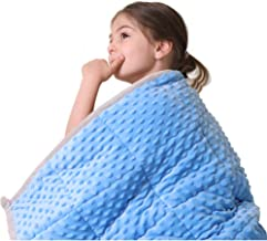 """JHMENG Weighted Blanket for Kids (5 lbs, 36"""" x 48"""") Upgrade Versionn Plush Minky One Piece Design"""