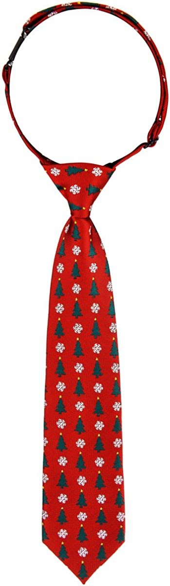 Retreez Cheap sale Classy Christmas Tree Long-awaited and Woven Pre-tied Snowflakes Boy'